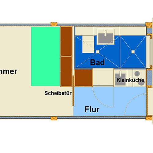 Grundriss Einzelappartement