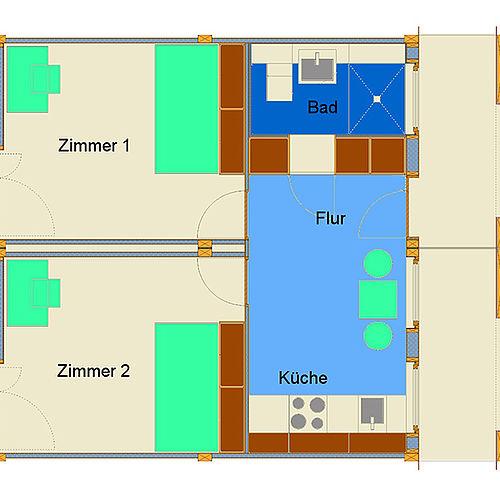 Grundriss Doppelappartement